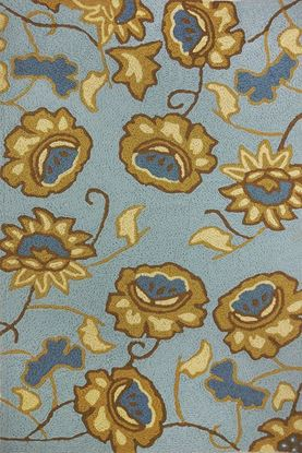 """Picture of JACOBEAN FLORAL SPA BLUE  34"""" X 54"""""""
