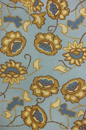 """Picture of JACOBEAN FLORAL SPA BLUE  58"""" X 78"""""""