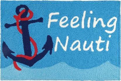 Jellybean Feeling Nauti Coastal Decor 21 x 33 in Washable Accent Rug