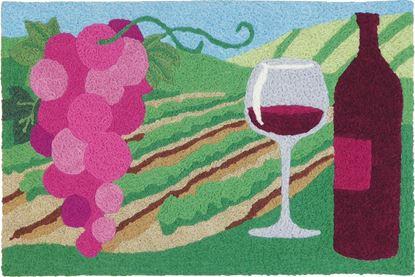 Jellybean Merlot Valley Kitchen Decor 21 x 33 in Washable Accent Rug