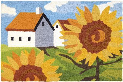 Jellybean Sunflowers On The Farm Garden Decor 21 x 33 in Washable Accent Rug