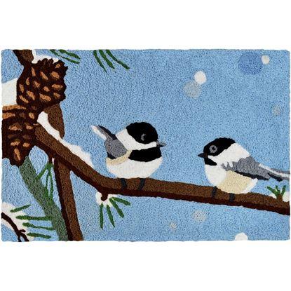 Chickadee & Pine Cone Jellybean Seasonal Accent Rug