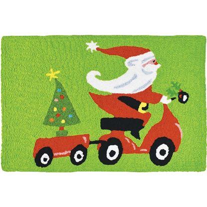 Santa on Scooter Jellybean Seasonal Accent rug