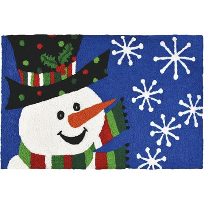 Nowman with Polka Dot Hat Jellybean Holiday Accent Rug