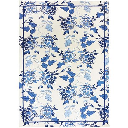 Picture of Blue Floral Repeat 5' x 7'
