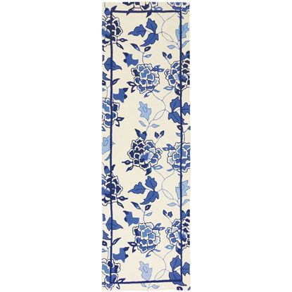 """Picture of Blue Floral Repeat 28"""" x 90"""""""